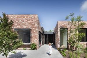 maison contemporaine brique