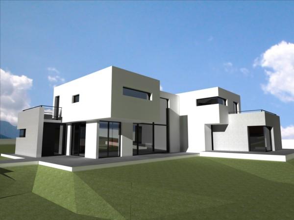 Maison contemporaine images for Exemple maison contemporaine