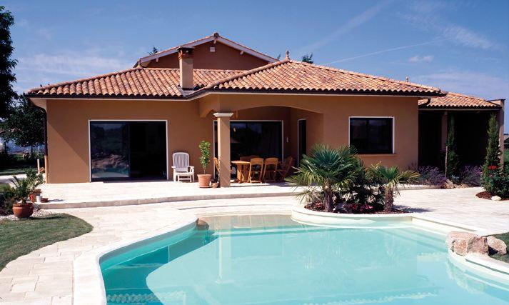 Photo de maison piscine for Tendance piscine