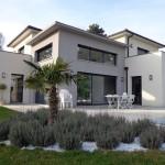 photo maison contemporaine avec piscine