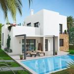 photo maison moderne avec piscine