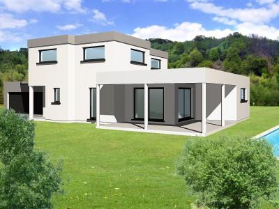 modèle photo maison moderne cube