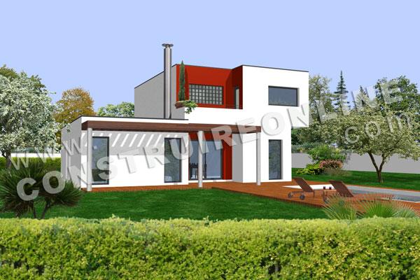 photo maison moderne plain pied
