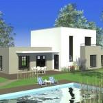 photo maison moderne toit plat