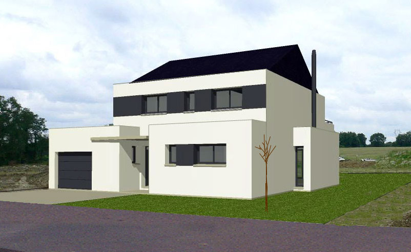 Exemple de facade de maison segu maison for Simulateur de facade de maison