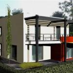 maison de ville contemporaine toit plat