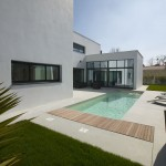 photo de maison d'architecte toit plat