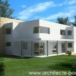 photo de maison neuve d'architecte toit plat