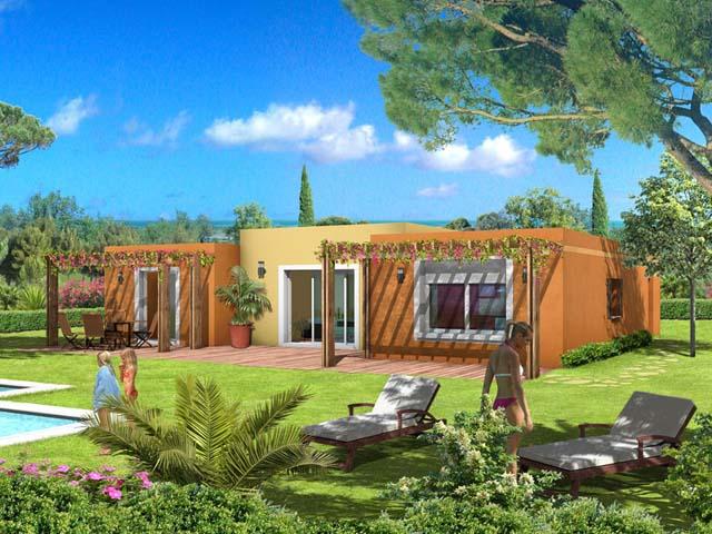 de maison provencale avec piscine toit plat Construction