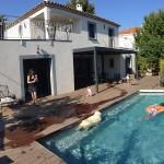 photo de maison provencale avec piscine toit plat