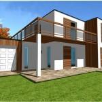 maison en kit contemporaine toit plat