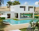 maison originale avec piscine toit plat
