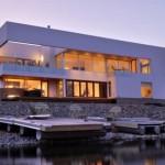 photo de maison de ville contemporaine toit plat