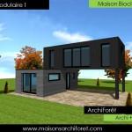 photo de maison design d'architecte toit plat