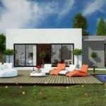 photo de maison design moderne toit plat