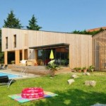 photo de maison en kit avec piscine toit plat