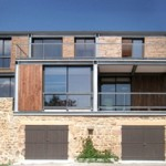 photo de maison en pierre contemporaine