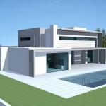 photo de maison neuve toit plat