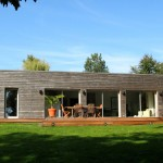 photo de maison originale d'architecte toit plat