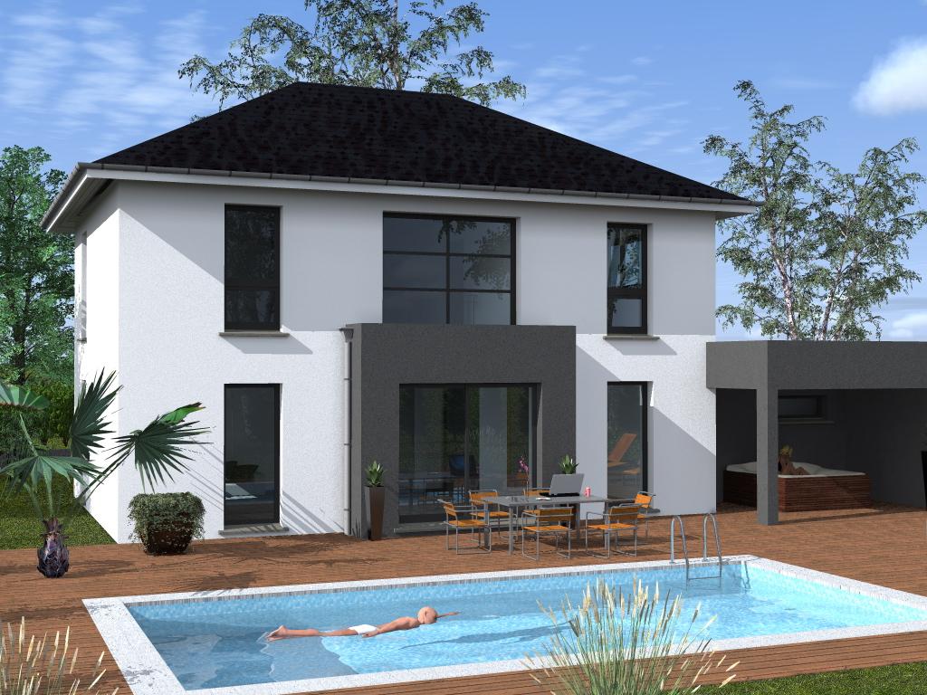 Maison toiture 4 pans ventana blog - Maison contemporaine toit 4 pentes ...