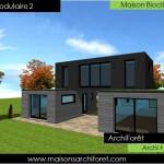 maison des iles d'architecte toit plat