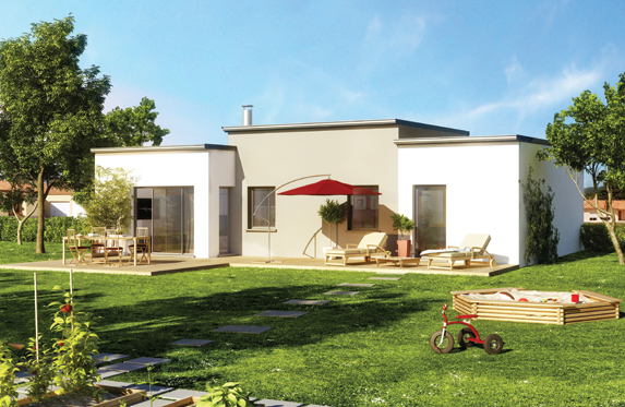maison des iles toit plat