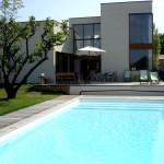 maison design avec piscine toit plat