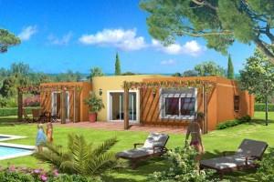 provencale avec piscine toit plat Construction