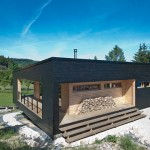 photo de maison en kit moderne toit plat