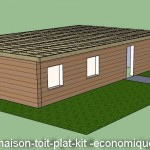 photo de maison en kit toit plat