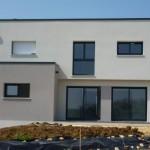 photo de maison moderne toit plat