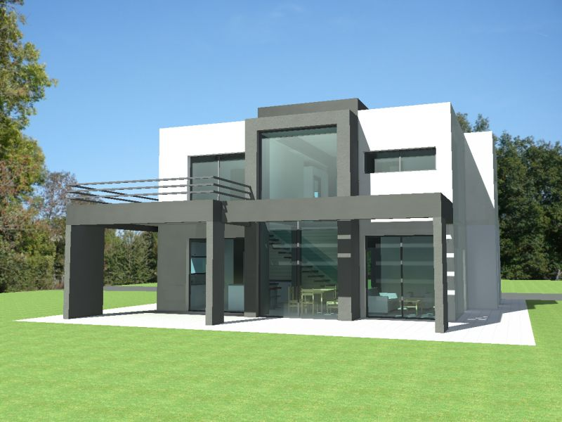 de maison moderne toit plat tendance