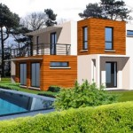 photo de maison originale toit plat