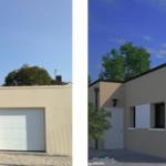 maison de ville moderne toit plat