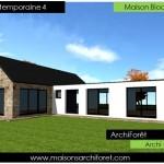 maison design d'architecte toit plat