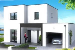 de maison de star moderne toit plat Construction