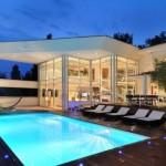photo de maison originale avec piscine