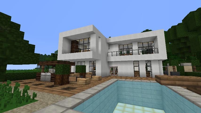 Awesome Maison De Reve Moderne Avec Piscine Minecraft ...