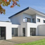 maison contemporaine toit zinc