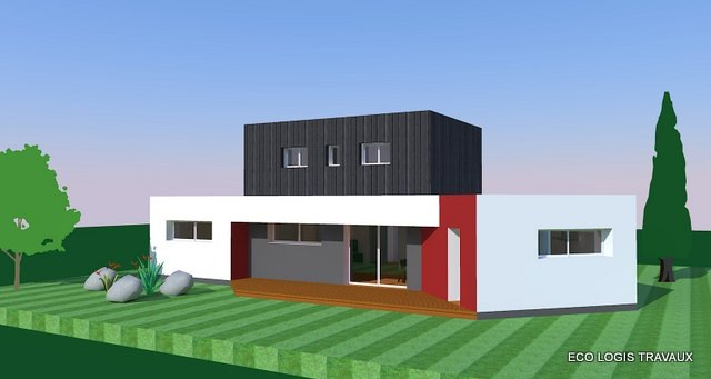 maison moderne toit zinc