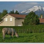 photo de maison montagne