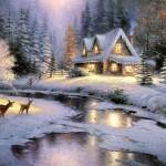 image maison hiver