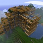 maison moderne en bois minecraft