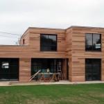 photo de maison bois moderne