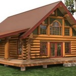 photo de maison en rondin de bois