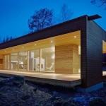 chalet bois en kit toit plat