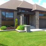 maison contemporaine garage double