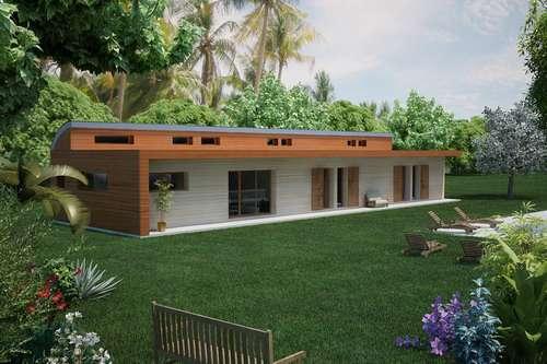 maison en bois plein pied