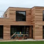photo de maison a ossature bois