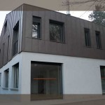 photo de maison bardage zinc